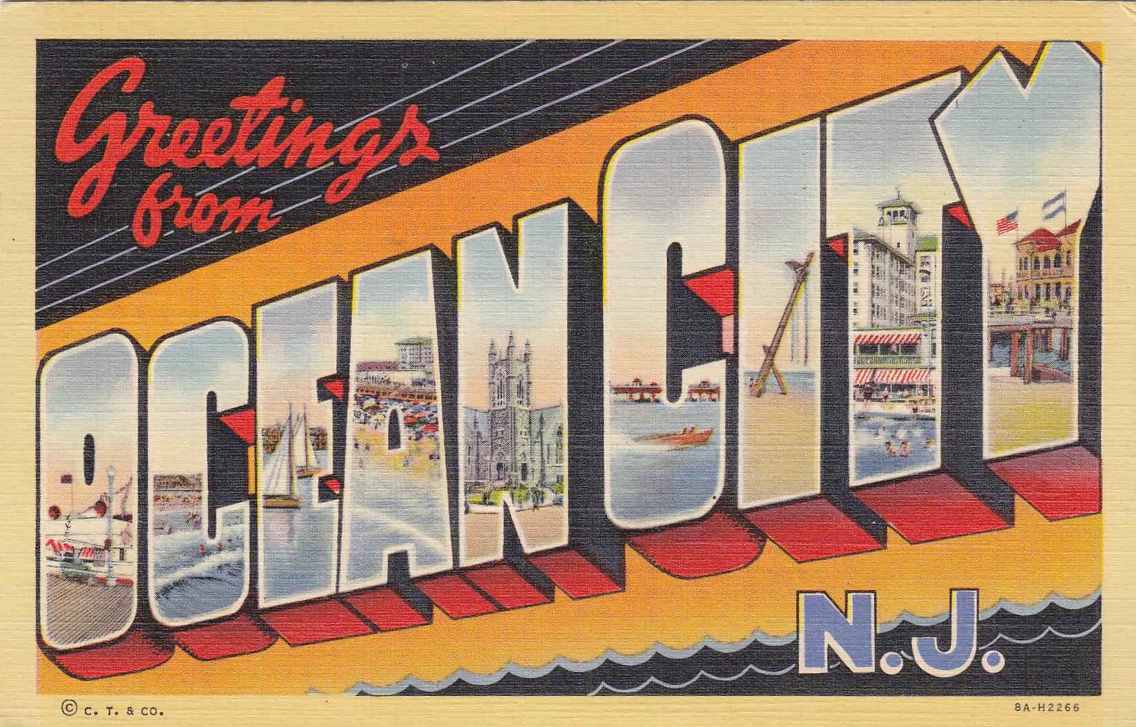 Greetings from ocean city moores postcard museum greetings from ocean city m4hsunfo