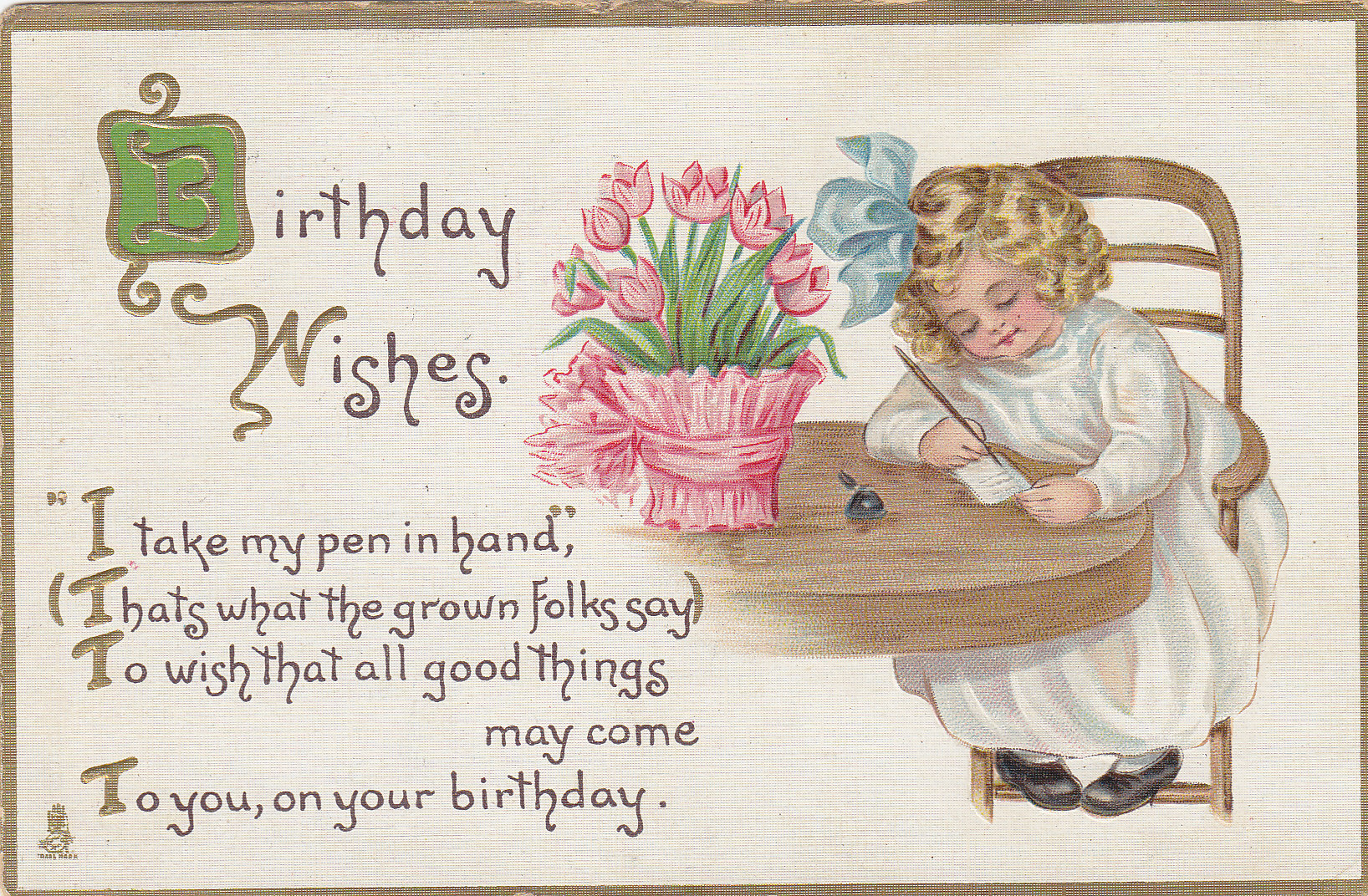 Birthday Wishes Moores Postcard Museum